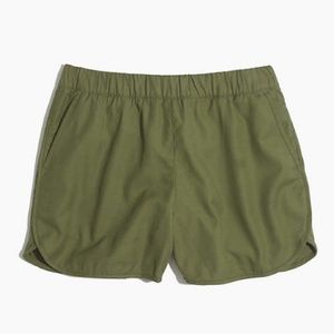 Madewell Pull-On Shorts Navy Green